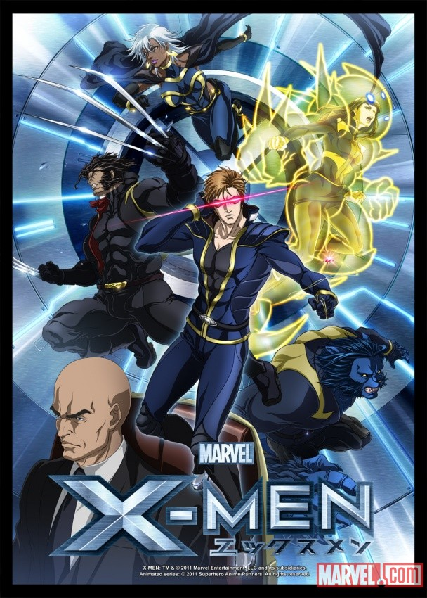 The x men from the x men anime series